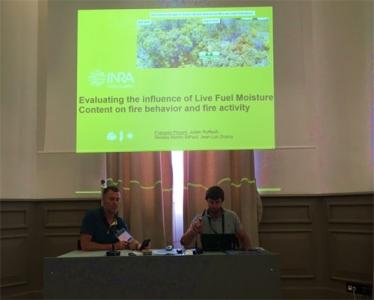 L'équipe feu à la 6ème conférence internationale sur le comportement des incendies et les combustibles à Marseille