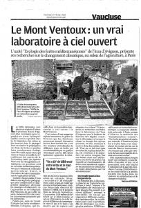 La provence, 27 février 2015