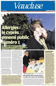 Allergies : le cyprès ennemi public numéro 1