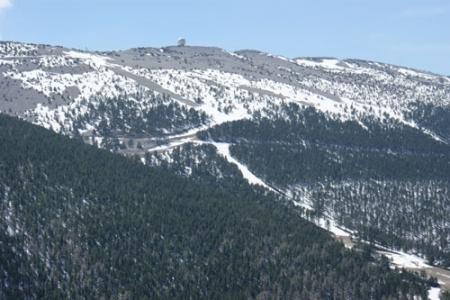 Survol du Mont Ventoux en hélicoptère
