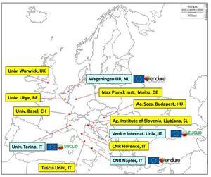 Collaborations européennes de l'équipe MISTRAL de l'unité de pathologie végétale, Inra Paca-Avignon, FRANCE