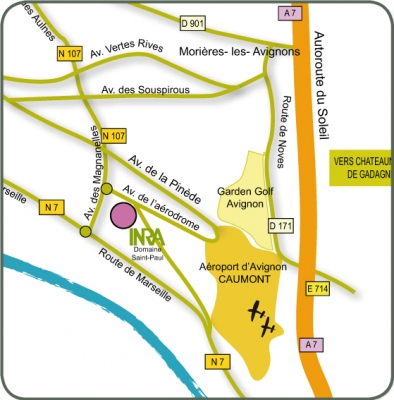 Plan Inra domaine St Paul