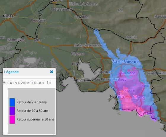 cartographie AIGA Pluies produite à 17h30 le 23/10/2019.