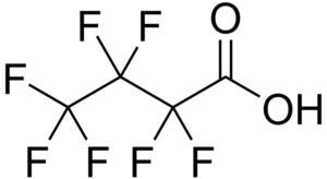 exemple de polluant perfluoré: acide heptafluorobutyrique