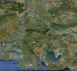 Localisation des sites expérimentaux d'EMMAH