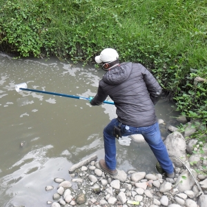 Water sampling in a stormwater canal