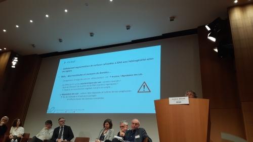Photo de Annette Bérard au colloque Agricultures européennes à l'horizon 2050