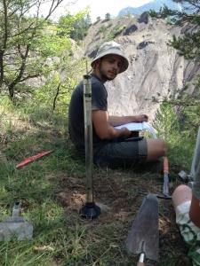 Florian Mallet lors de sa thèse sur le site expérimental étudié, l'ORE Draix-Bléone