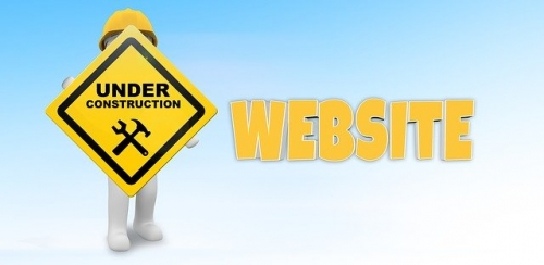 image précisant que le site est en maintenance et mise à jour