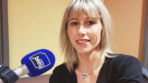 Sandrine Perino au micro de FranceBleu