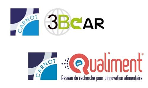 logos des Instituts Carnot 3BCAR et Qualiment