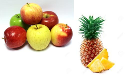pommes et ananas