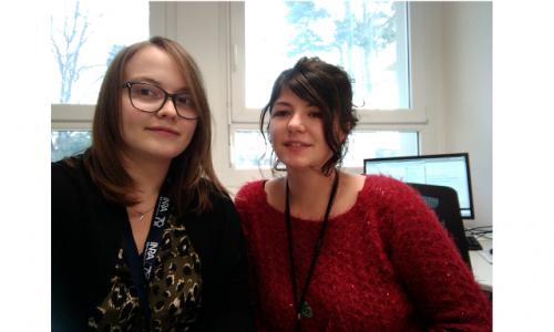 Marina Français et Ludivine Rousset, deux nouvelles doctorantes